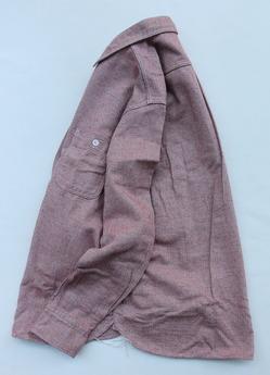 FOB Herringbone Flannel Work Shirt RED (5)