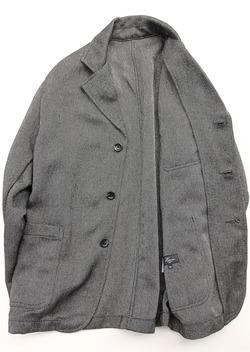 Harriss Tweedy Melange Herringbone Button GREY (5)