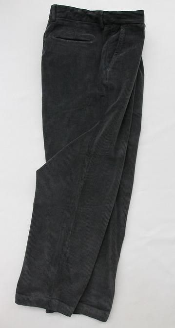 Riccard Metha Corduroy 1 Tuck Wide Trousers GREY (6)