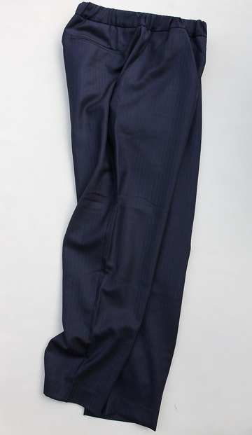 CESTERS Wool Herringbone  No Pleats Easy Trousers NAVY (6)