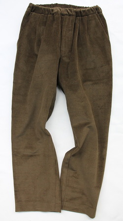 CESTERS Corduroy 2 Pleats Easy Trousers OLIVE (4)