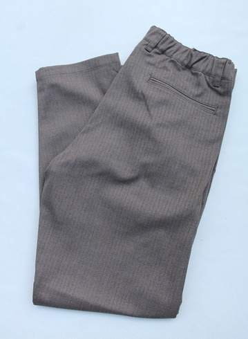Harriss CARREMAN TR Stretch Heringbone 1P Tapered Pants BROWN