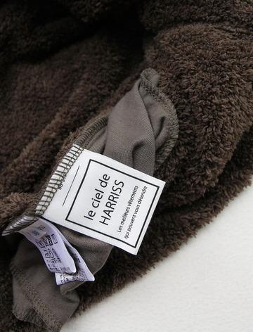 Le ciel de Harriss Boa Fleece Button Vest OLIVE (4)