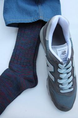 Anonymous Isme 5 Color Mix Socks INDIGO