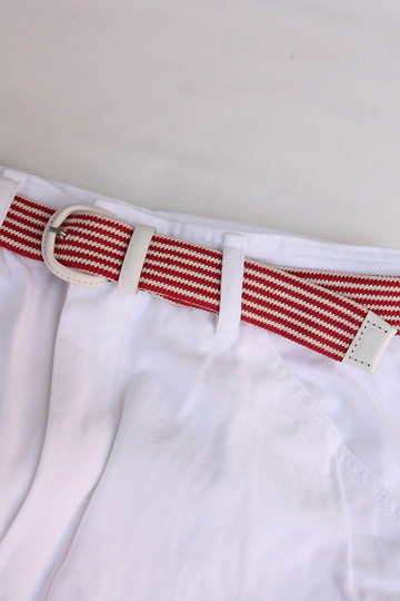 Stefano Corsini Cotton Breed Rubber Belt WHITE (2)