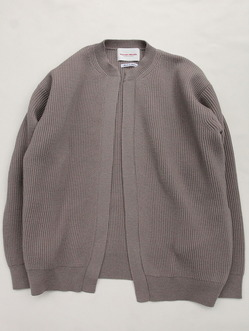 Vincent et Mireille 8 GG Aze Crew Neck Cardigan ICE GREY (2)