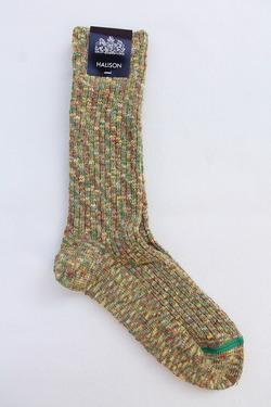 HALISON Marble Slab Rib Socks YELLOW (3)