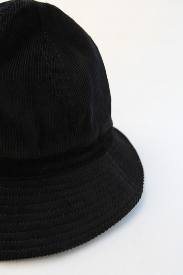 Au Vrai Chic BRITAIN Corduroy Dome Hat BLACK (2)