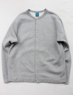 Goodon Crew Sweat Cardigan METAL