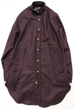 CESTERS Wool Long Shirts BURGUNDY