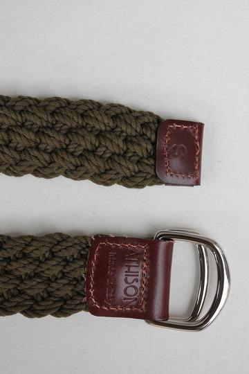ATHISON Cotton Ring Belt OLIVE (4)