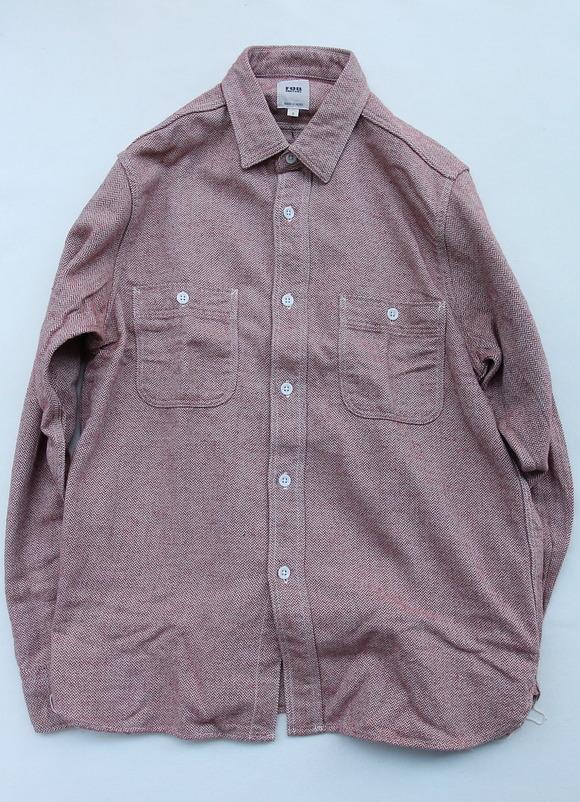 FOB Herringbone Flannel Work Shirt RED