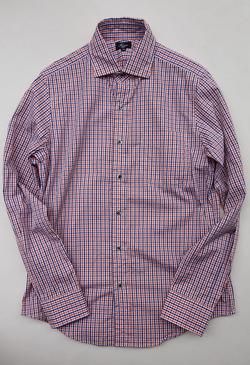 Harriss Plaid Shirt ORANGE X NAVY