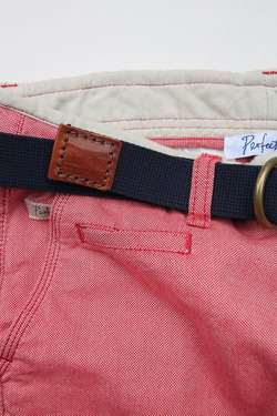 HALCYON Canvas & Leather W Ring Belt NAVY (4)