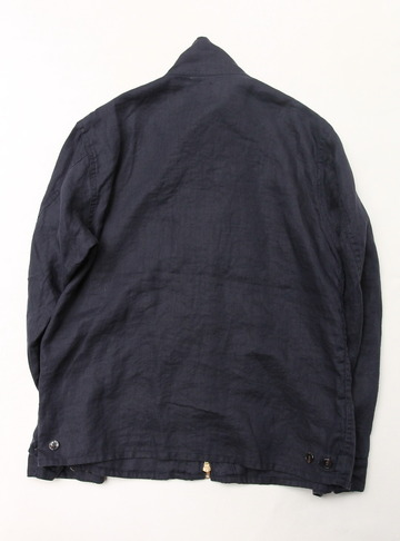 Arbre Linen Zip Jacket NAVY (5)