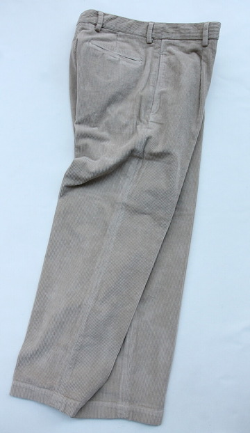 RM 1 Tuck Wide Pants 8 Well Corduroy BEIGE (6)