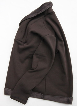 Leciel de Harriss Bomber Heat Shawl Collar BROWN (2)