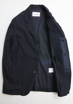 Vincent et Mireille Tailored Jacket Cotton Moleskin NAVY (2)