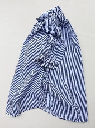 Vasy Lentlement Regular CollarOversized Shirt BLUE Stripe (3)
