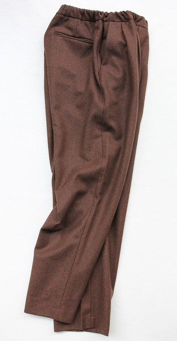 CEASTERS 2 Pleats Easy Trousers BROWN  by Burel (6)