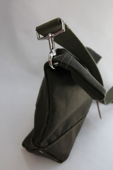 HERITAGE LEATHER Co Travel Pouch 10 10 ARMY Duck OLIVE (4)