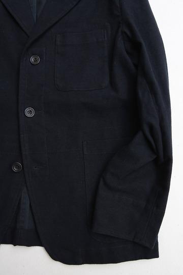 Vincent et Mireille Tailored Jacket Cotton Moleskin NAVY (5)