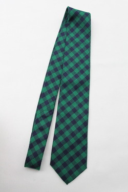 CANDIDUM Bright Check Tie GREEN X BLUE (3)