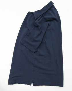 ARAN Cotton Pique Slipper NAVY (2)