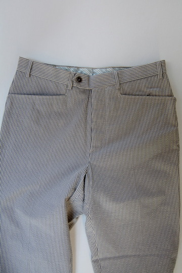 Mabitex Seersucker Tepered Pants BEIGE X GREY (4)