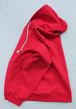 Arbre HW Cotton Fleece Zip up Sweat Parka SCARLET (5)