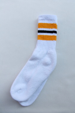 STRIP Crew Socks 9-11 GOLD X BLACK (3)