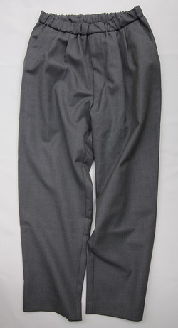 CASTERS Summer Wool 2Pleats Trousers LITE GREY