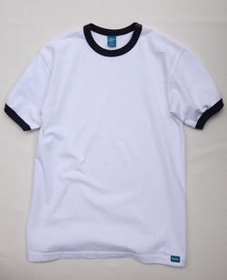 Goodon Ringer Tee WHITE X NAVY