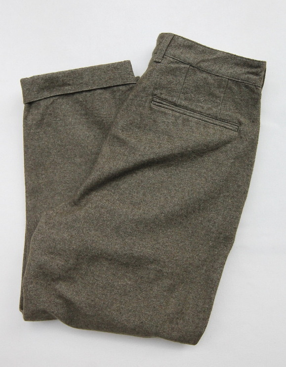 FOB 2 Tuck Wide Pants CW Back Satin OLIVE