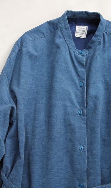 le ciel deHarriss Corduroy Button Dress BLUE (3)