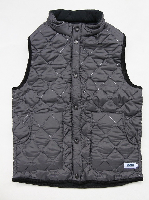 ARMEN Reversible Vest GREY X BLACK