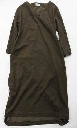 MAXOU Mini Velor Lounge Dress OLIVE