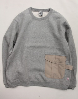Chums Utility Pocket Crew Top Sweat H GREY