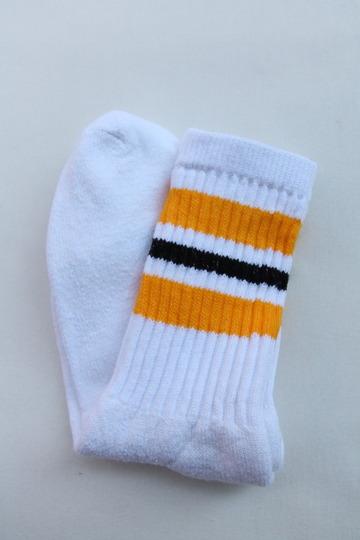 STRIP Crew Socks 9-11 GOLD X BLACK (2)