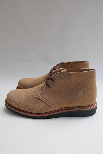Laborer Shoes Postman Chukka BEIGE Suede (4)