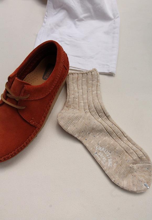 SMALL STONE Socks Cotton Linen Crew Socks MIX