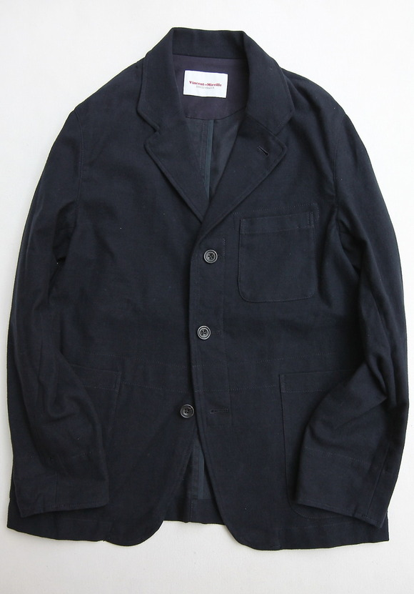 Vincent et Mireille Tailord Jacket Cotton Strech Moleskin NAVY