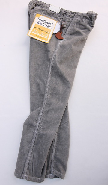 Sunlight Believer Ribress Corduroy Wide Pants GREY (7)