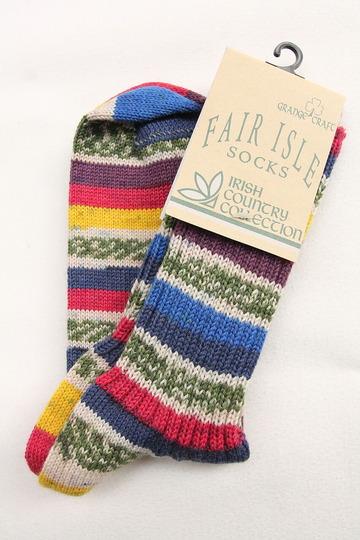 GRANGE CRAFT Fair Isle Socks (3)