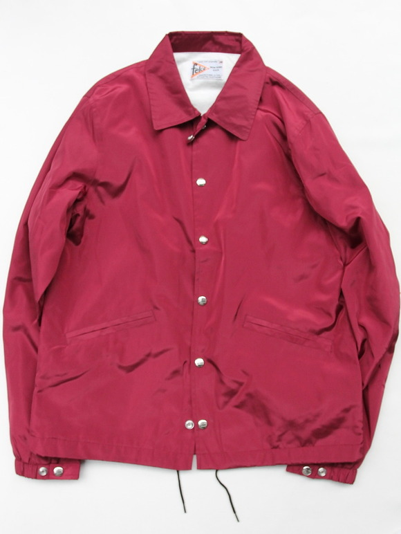 Felco Nylon Coach Jacket BURGUNDY