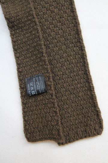 MADE IN FRANCE Wool Knit Tie OLIVE (2)