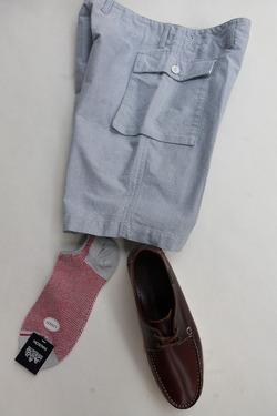 HALISON Linen Mesh Ankle Socks LIGHT GREY