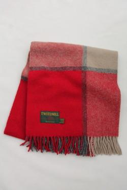 Tweed Mill Knee Rug RED & SLATE (3)