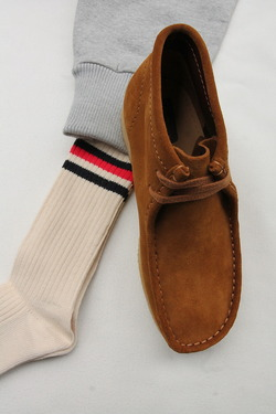 HALISON Organic Cotton IVY Crew Socks NAVY X RED