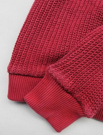 Goodon Crew Cotton Sweater P RED (4)